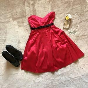 LAST CHANCE ❗️ F21 red satin strapless dress